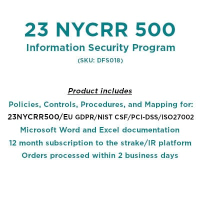 NYDFS 23 NYCRR 500