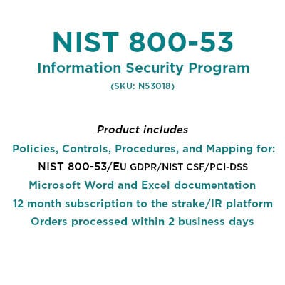NIST 800-53 Rev4 Cybersecurity Plan